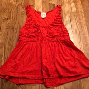Anthropologie Rio Rao Orange Tunic Tank